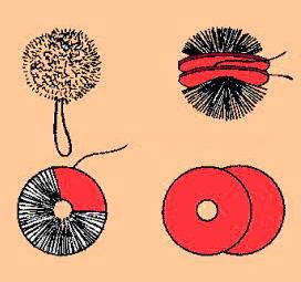 Pon pon for Nodo invisibile per unire due fili di lana