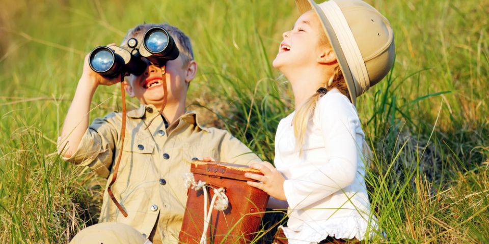 Happy laughing children