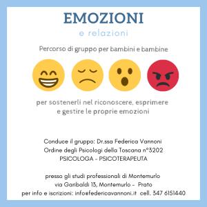 intelligenza emotiva per bambini a Prato