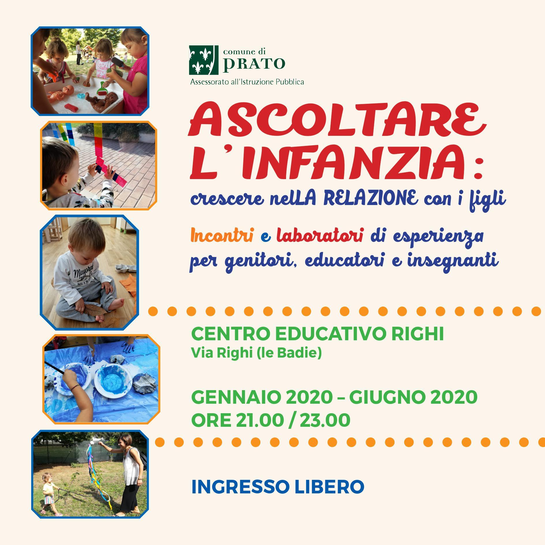 Ascoltare l'infanzia 2020 Prato